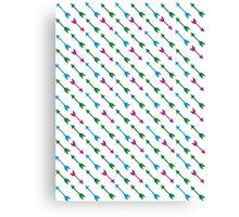 Thousand Arrows (Green & Blue & Purple) Canvas Print