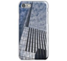 Silver and Blue - Cloud Puffs and Glass Skyscrapers iPhone Case/Skin