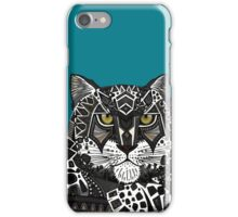 snow leopard teal iPhone Case/Skin