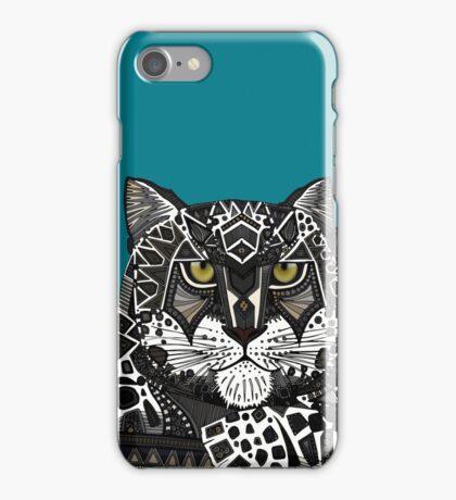 snow leopard teal iPhone Case/Skin