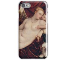 Tiziano Vecellio, Titian - Venus with the Organ Player around 1550 iPhone Case/Skin
