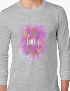 Happy! (purple) Long Sleeve T-Shirt