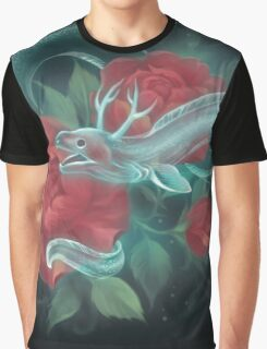 Ghost eel and roses Graphic T-Shirt