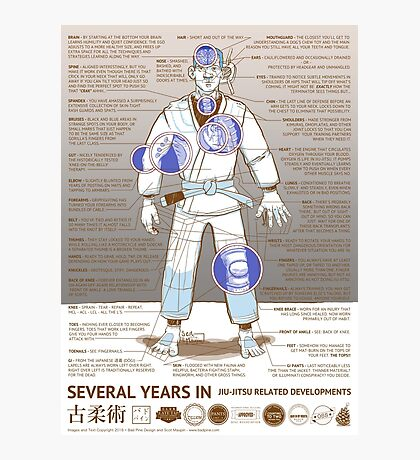 BJJ - Several Years In - Sepia Photographic Print