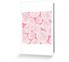 Pattern with pink roses Greeting Card