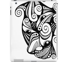 Twisted Multi-Eyed Happy Face with Spirals iPad Case/Skin