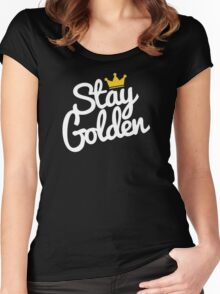 stay golden Women's Fitted Scoop T-Shirt