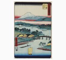 Kawasaki - Hiroshige Ando - 1855 - woodcut One Piece - Long Sleeve