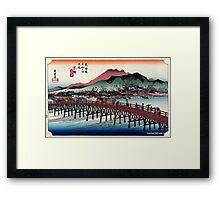 Keishi - Hiroshige Ando - 1833.tif Framed Print