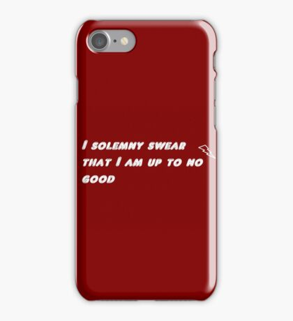 I solemny swear that I am up to no good iPhone Case/Skin