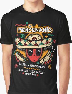 El Mercenario Mexican Food Graphic T-Shirt