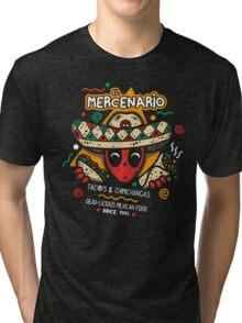 El Mercenario Mexican Food Tri-blend T-Shirt