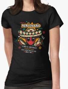 El Mercenario Mexican Food Womens Fitted T-Shirt