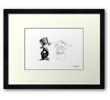 Little Bride and Groom Framed Print