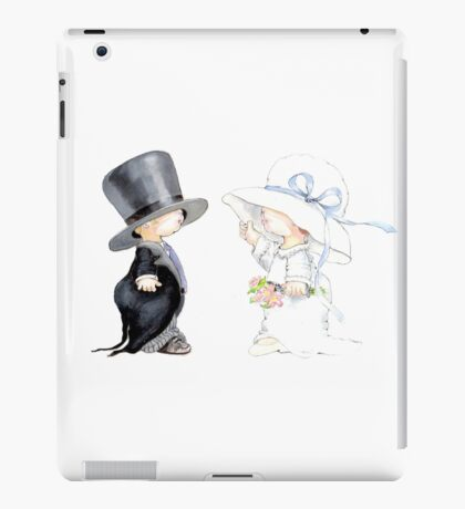 Little Bride and Groom iPad Case/Skin