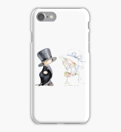 Little Bride and Groom iPhone Case/Skin
