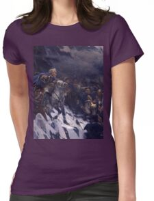 Vasily Surikov - Suvorov Crossing the Alps  Womens Fitted T-Shirt