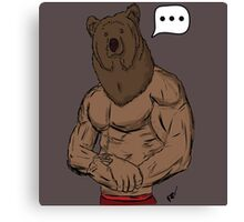 Bear Mode Canvas Print