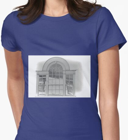 Window in a an Old Building, Axminster. Devon UK Womens Fitted T-Shirt