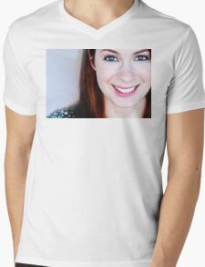 Felicia Day Mens V-Neck T-Shirt