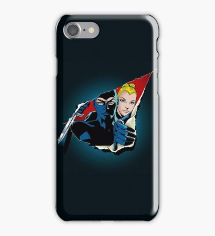 Diabolik and Eva Kant in the cut iPhone Case/Skin