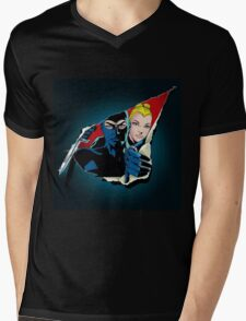 Diabolik and Eva Kant in the cut Mens V-Neck T-Shirt
