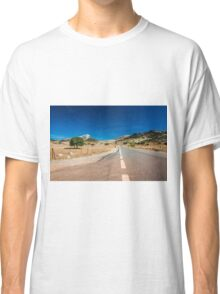 Empty road in Spain Classic T-Shirt