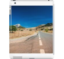 Empty road in Spain iPad Case/Skin