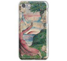 William Blake - Dante running from the three beasts  iPhone Case/Skin