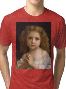 William Bouguereau  - Little Girl  Tri-blend T-Shirt