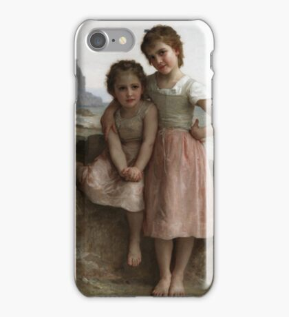 William Bouguereau  - Sisters on the Shore  iPhone Case/Skin