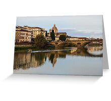 Impressions Of Florence – Ponte Santa Trinita Boating Greeting Card