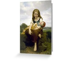 William Bouguereau  - The Elder Sister Greeting Card
