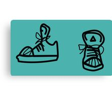 Skaters trainers Canvas Print