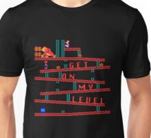 Donkey Kong Get On My Level Design Unisex T-Shirt