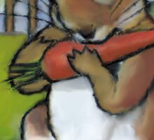 The Nice Rabbit: After Beatrix Potter, Rabbit Eating Carrot Sticker