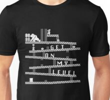 Donkey Kong Get On My Level Design [B&W] Unisex T-Shirt