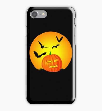 Halloween Moon Jack-O-Lantern iPhone Case/Skin
