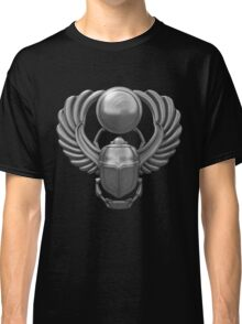 Silver Egyptian Scarab Classic T-Shirt