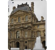 Of Pale Pastels and Palaces - the Louvre Courtyard in Paris iPad Case/Skin