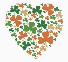 Lucky Heart Clovers #04 Kids Tee