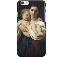 William Bouguereau  - The Elder Sister iPhone Case/Skin