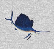 Fish: Atlantic Sailfish One Piece - Short Sleeve