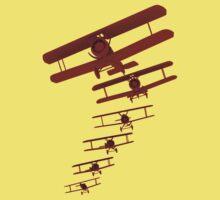 Retro Biplane Graphic Kids Tee