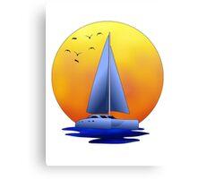 Catamaran Sailboat Canvas Print