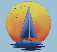 Catamaran Sailboat Kids Tee