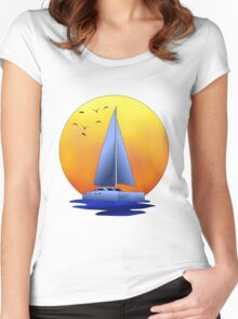 Catamaran Sailboat Women's Fitted Scoop T-Shirt