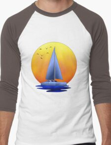 Catamaran Sailboat Men's Baseball ¾ T-Shirt