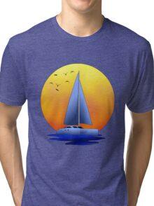 Catamaran Sailboat Tri-blend T-Shirt