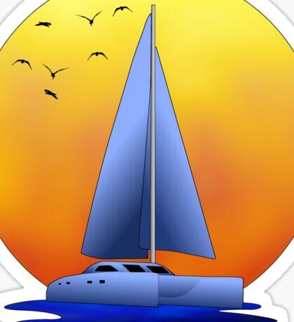 Catamaran Sailboat Sticker